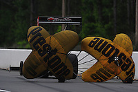 May 13, 2011; Commerce, GA, USA: NHRA top fuel dragster driver Ike Maier during qualifying for the Southern Nationals at Atlanta Dragway. Mandatory Credit: Mark J. Rebilas-