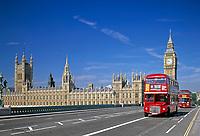 England, London: House of Parliament, Big Ben und Westminster Bridge   United Kingdom, London: House of Parliament, Big Ben and Westminster Bridge