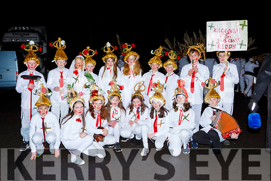 The Kilgobnet NS  biddy group at the Biddy festival in Killorglin Saturday night