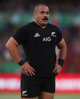 PRETORIA, SOUTH AFRICA - OCTOBER 06: Karl Tu'inukuafe of the New Zealand (All Blacks) during the Rugby Championship match between South Africa Springboks and New Zealand All Blacks at Loftus Versfeld Stadium. on October 6, 2018 in Pretoria, South Africa. Photo: Steve Haag / stevehaagsports.com