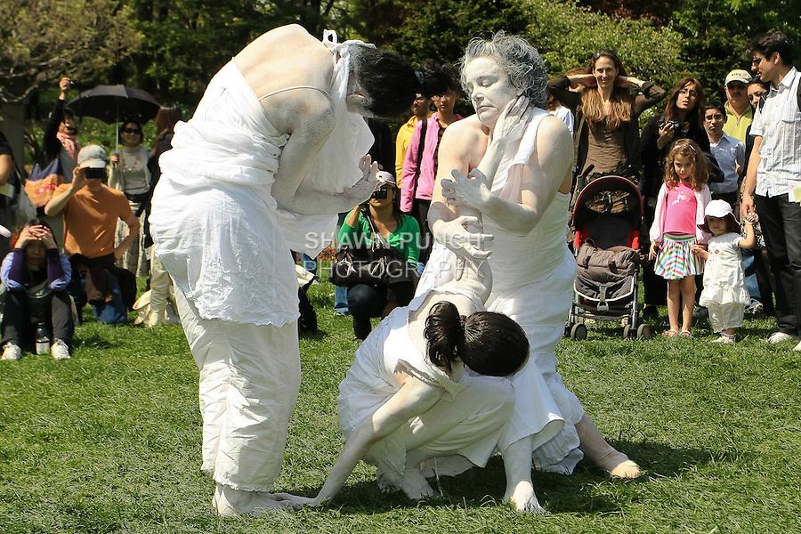 Butoh Dance performance by Dean Street FOO Dance group, during the Sakura Matsuri 2011 - Cherry Blossom Festival at Brooklyn Botanic Garden, May 1 2011.