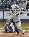 Masahiro Tanaka (Yankees),<br /> MAY 9, 2014 - MLB :<br /> Masahiro Tanaka of the New York Yankees bats in the third inning during the Major League Baseball game against the Milwaukee Brewers at Miller Park in Milwaukee, Wisconsin, United States. (Photo by AFLO)