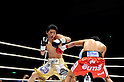 (L-R) Daiki Kameda (JPN), Tepparith Kokietgym (THA), DECEMBER 7, 2011 - Boxing : Daiki Kameda of Japan and Tepparith Kokietgym of Thailand in action during the WBA super flyweight title bout at Osaka Prefectural Gymnasium in Osaka, Osaka, Japan. (Photo by Mikio Nakai/AFLO)