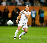 Christie Rampone.  Japan won the FIFA Women's World Cup on penalty kicks after tying the United States, 2-2, in extra time at FIFA Women's World Cup Stadium in Frankfurt Germany.