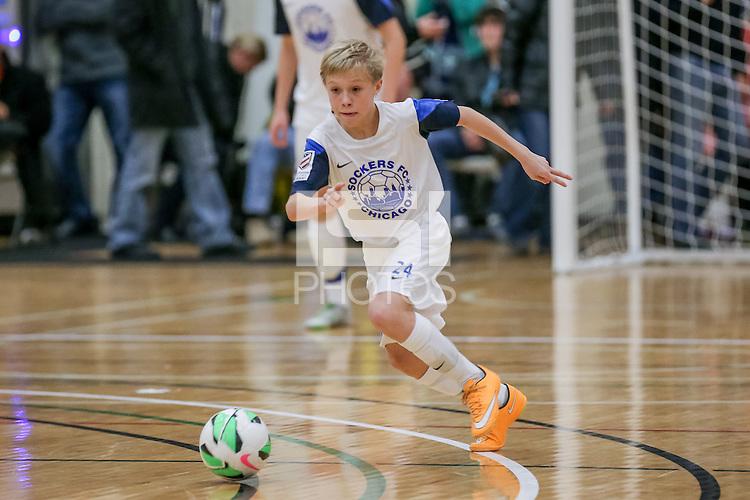 Chicago, IL. - January 31, 2015: U-14 Futsal Showcase at Quest Multisport Complex.