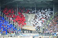 VOETBAL: HEERENVEEN: Abe Lenstra Stadion, SC Heerenveen - Feyenoord, 06-05-2012, voorafgaand aan de wedstrijd memoreren Feyenoord-supporters aan 8 mei 2002 (de dag waarop Feyenoord de UEFA Cup won), Eindstand 2-3, ©foto Martin de Jong