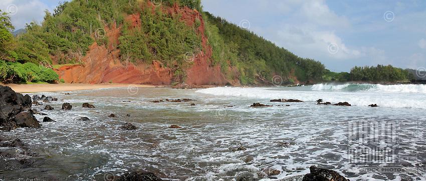 Koki Beach on Maui's east side, Hana, Hawaii.