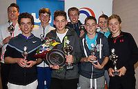 Almere, Netherlands, December 6, 2015, Winter Youth Circuit, Winners boys 16 years: <br /> Photo: Tennisimages/Henk Koster
