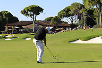 Shane Lowry (IRL) plays his 2nd shot on the 18th hole during Friday's Round 2 of the 2018 Turkish Airlines Open hosted by Regnum Carya Golf &amp; Spa Resort, Antalya, Turkey. 2nd November 2018.<br /> Picture: Eoin Clarke | Golffile<br /> <br /> <br /> All photos usage must carry mandatory copyright credit (&copy; Golffile | Eoin Clarke)