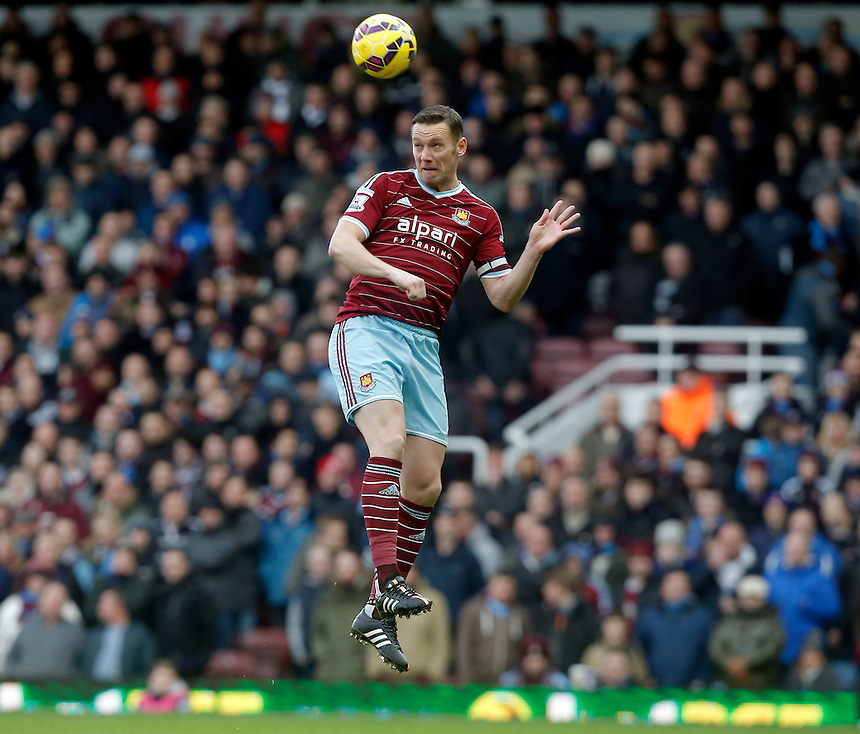 West Ham United's Kevin Nolan in action during todays match  <br /> Photographer Kieran Galvin/CameraSport<br /> <br /> Football - Barclays Premiership - West Ham United v Hull City - Sunday 18th January 2015 - Boleyn Ground - London<br /> <br /> &copy; CameraSport - 43 Linden Ave. Countesthorpe. Leicester. England. LE8 5PG - Tel: +44 (0) 116 277 4147 - admin@camerasport.com - www.camerasport.com