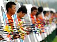 Beijing Olympic Green Archery Field. Olympic Venues<br /> Olimpiadi Pechino 2008. Impianto Giochi Olimpici<br /> Foto Cspa/Insidefoto