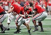 January 8th 2018, Atlanta, GA, USA;  Georgia Bulldogs quarterback Jake Fromm (11) in action <br />