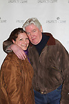 "David Butler who was on Days of our Lives and One Life to Live poses with his wife Anna as he stars as ""W. Harrison Brent"" in  Perfect Crime - 30th Anniversary off-Broadway on April 18, 2017 at Bernstein Theatre, New York City, New York. (Photo by Sue Coflin/Max Photos)"