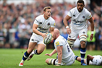 Chris Cook of Bath Rugby in possession. Aviva Premiership match, between Leicester Tigers and Bath Rugby on September 3, 2017 at Welford Road in Leicester, England. Photo by: Patrick Khachfe / Onside Images