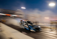 Sep 27, 2019; Madison, IL, USA; NHRA funny car driver Shawn Langdon during qualifying for the Midwest Nationals at World Wide Technology Raceway. Mandatory Credit: Mark J. Rebilas-USA TODAY Sports