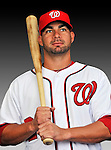 25 February 2011: Washington Nationals' catcher Jesus Flores poses for his Photo Day portrait at Space Coast Stadium in Viera, Florida. Mandatory Credit: Ed Wolfstein Photo