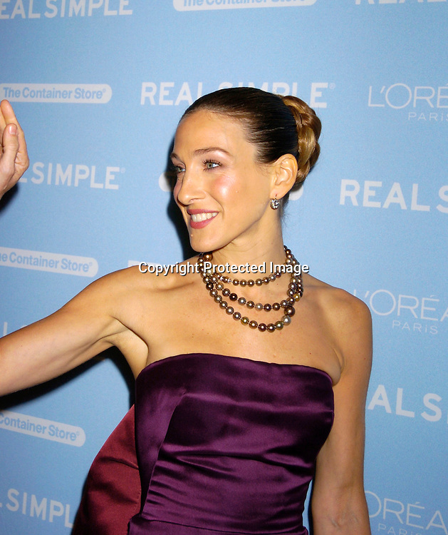 """Sarah Jessica Parker ..at The Real simple Magazine's Get Organized New York"""" ..Benefit Dinner on October 13, 2004 at Jazz at Lincoln Center . This event benefits The Fund for Public Schools...Photo by Robin Platzer, Twin Images"""