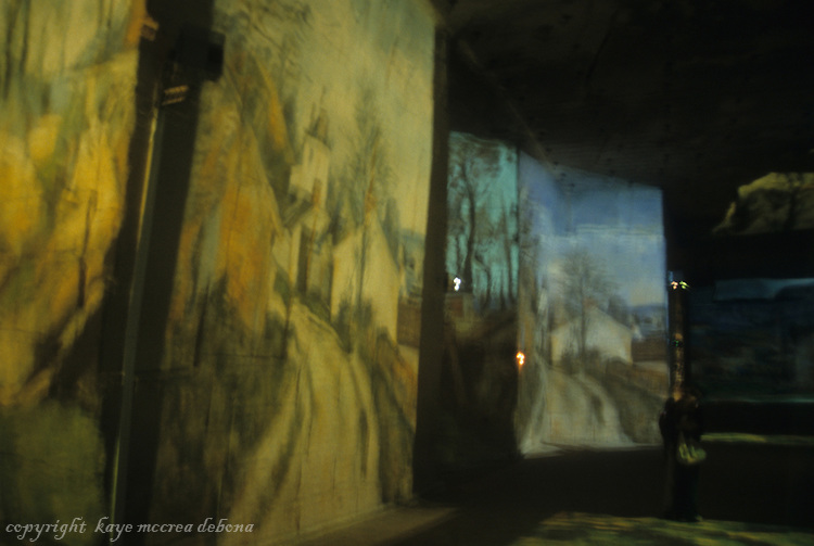 Paul Cezanne images at the Cathedrale D'Images in southern France