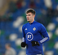 16th November 2019; Windsor Park, Belfast, Antrim County, Northern Ireland; European Championships 2020 Qualifier, Northern Ireland versus Netherlands; Paddy McNair of Northern Ireland warms up prior to kickoff - Editorial Use