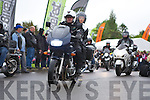 The riders past through the bike village at the Gleneagle Hotel at the Harley Davidson Bikefest in Killarney on Sunday..