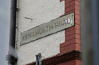 General view of the road sign outside Kenilworth Road Stadium, home of Luton Town Football Club ahead of the Sky Bet League 2 match between Luton Town and Wycombe Wanderers at Kenilworth Road, Luton, England on 26 December 2015. Photo by David Horn.