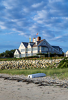 Waterfront beach house on Chatham Harbor, Cape Cod, Massachusetts, USA.