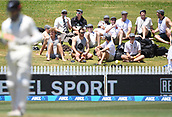 9th December 2017, Seddon Park, Hamilton, New Zealand; International Test Cricket, 2nd Test, Day 1, New Zealand versus West Indies;  Fans on the bank at Seddon Park