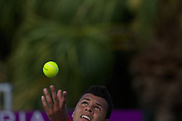 KEY BISCAYNE, FL - MARCH 25: Jo-Wilfred Tsonga competes during Day 7 of the Sony Ericsson Open in Miami on March 25th, 2012 in Key Biscayne, FL. ( Photo by Chaz Niell/Media Punch Inc.)