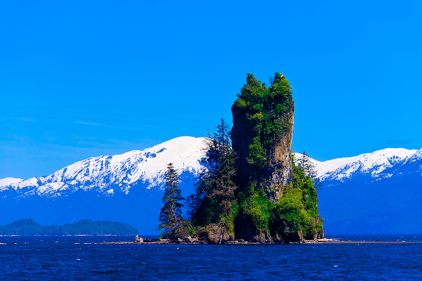 New Eddystone Rock, Misty Fjords National Monument, near Ketchikan, southeast Alaska, USA