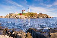 Nubble lighthouse at Cape Neddick, Maine.