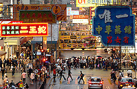 Rush hour in Causeway Bay, Hong Kong..30 Oct 2007