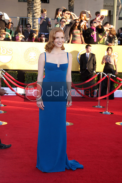 Jessica Chastain<br /> at the 18th Annual Screen Actors Guild Awards Arrivals, Shrine Auditorium, Los Angeles, CA 01-29-12<br /> David Edwards/DailyCeleb.com 818-249-4998