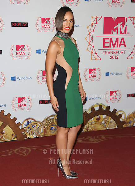 Alicia Keys arriving for the The MTV EMA's 2012 held at Festhalle, Frankfurt, Germany. 11/11/2012 Picture by: Henry Harris / Featureflash
