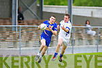 Jack Cahill Spa goes past Maurice Foley Laune Rangers during their County League game in Killorglin on Saturday
