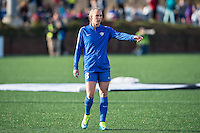 Allston, MA - Sunday, April 24, 2016: Boston Breakers defender Julie King (8). The Boston Breakers play Seattle Reign during a regular season NSWL match at Harvard University.