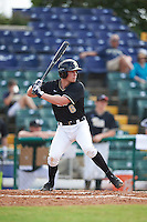 Pittsburgh Panthers first baseman Caleb Parry (6) at bat during a game against the Siena Saints on February 24, 2017 at Historic Dodgertown in Vero Beach, Florida.  Pittsburgh defeated Siena 8-2.  (Mike Janes/Four Seam Images)