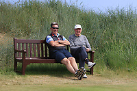 Anthony Murphy from Clogherhead and a friend enjoying the play at the 3rd tee during Round 4 of the East of Ireland Amateur Open Championship 2018 at Co. Louth Golf Club, Baltray, Co. Louth on Monday 4th June 2018.<br /> Picture:  Thos Caffrey / Golffile<br /> <br /> All photo usage must carry mandatory copyright credit (&copy; Golffile | Thos Caffrey)
