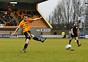 Rory McAuley of Cambridge United shoots wide during the Blue Square Bet Premier match between Cambridge United and Histon at the Abbey Stadium, Cambridge on 1st January, 2011.© Kevin Coleman 2011