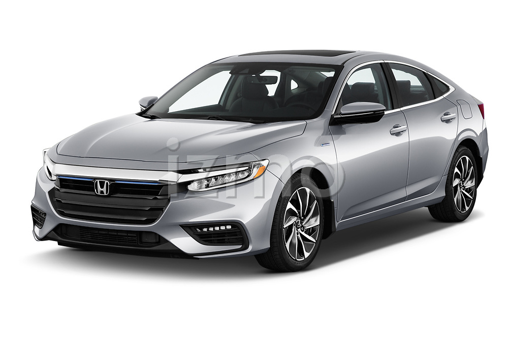 2020 Honda Insight Touring 5 Door Hatchback angular front stock photos of front three quarter view