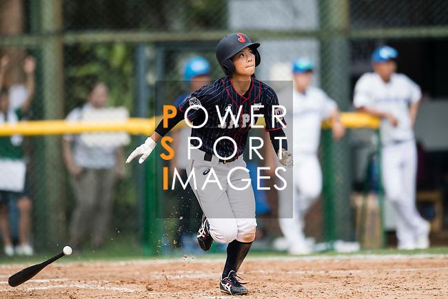 #77 Watanabe Nana of Japan runs after bat during the BFA Women's Baseball Asian Cup match between South Korea and Japan at Sai Tso Wan Recreation Ground on September 2, 2017 in Hong Kong. Photo by Marcio Rodrigo Machado / Power Sport Images
