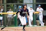 #77 Watanabe Nana of Japan runs after bat during the BFA Women's Baseball Asian Cup match between South Korea and Japan at Sai Tso Wan Recreation Ground on September 2, 2017 in Hong Kong. Photo by Marcio Rodrigo Machado / Power Sport Images