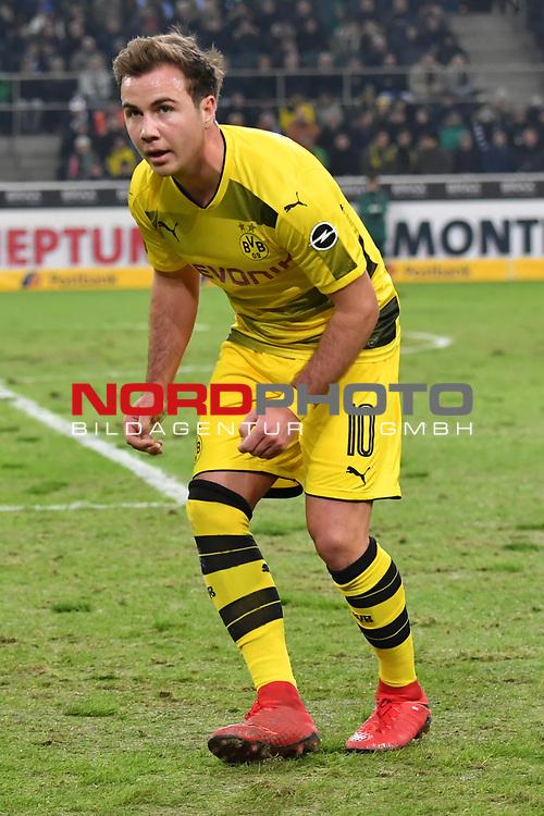 18.02.2018, Borussia Park, M&ouml;nchengladbach, GER, 1. FBL., Borussia M&ouml;nchengladbach vs. Borussia Dortmund<br /> <br /> im Bild / picture shows: <br /> Mario Goetze (Borussia Dortmund #10), <br /> <br /> Foto &copy; nordphoto / Meuter