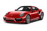 2017 Porsche 911 Turbo 2 Door Coupe Angular Front stock photos of front three quarter view