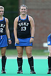 30 September 2016: Duke's Rose Tynan (NZL). The Duke University Blue Devils hosted the Boston College Eagles at Jack Katz Stadium in Durham, North Carolina in a 2016 NCAA Division I Field Hockey match. Duke won the game 6-2.