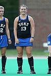 30 September 2016: Duke's Rose Tynan (NZL). The Duke University Blue Devils hosted the Boston College Eagles at Jack Katz Stadium in Durham, North Carolina in a 2016 NCAA Division I Field Hockey match. Duke won the game 6-2.