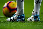 Shoes of Toni Kroos of Real Madrid are seen during the La Liga 2018-19 match between Real Madrid and Rayo Vallencano at Estadio Santiago Bernabeu on December 15 2018 in Madrid, Spain. Photo by Diego Souto / Power Sport Images