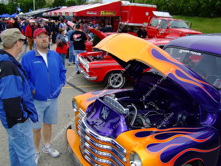 People come from all over the United States to show off their cars and trucks at the Hot Rod Power Tour on Friday, 6/9/09, at the Alliant Energy Center in Madison, Wisconsin
