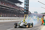 May 28th Indianapolis Speedway, Indiana, USA; The 101st Indianapolis 500 on May 28th, 2017 at the Indianapolis Motor Speedway in Indianapolis, IN.  #20 ED CARPENTER (USA) ED CARPENTER RACING (USA) CHEVROLET leaves the pits