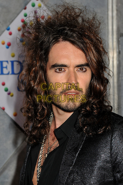 """RUSSELL BRAND .""""Bedtime Stories"""" Los Angeles Premiere at the El Capitan Theatre, Hollywood, California, USA..December 18th, 2008.headshot portrait black eyeliner stubble beard facial hair .CAP/ADM/BP.©Byron Purvis/AdMedia/Capital Pictures."""