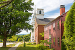 The Hancock Meeting House and the Church Vestry iin the Hancock Historic District in Hancock, New Hampshire, USA